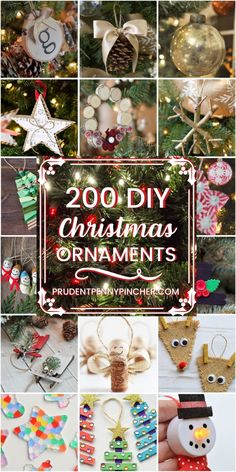 200 DIY Christmas Ornaments - Try some of these unique DIY Christmas ornaments for your Christmas tree. These ideas are great as Christmas crafts to make with your kids. From rustic Christmas ornament Rustic Christmas Ornaments, Christmas Crafts To Make, Simple Christmas, Christmas Projects, Holiday Crafts, Christmas Holidays, Christmas Decorations, Diy Ornaments, Christmas Ideas