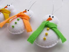 felt snowmen