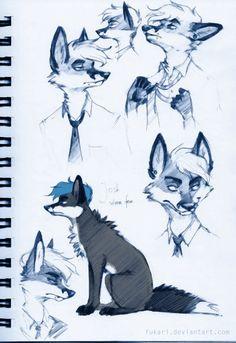 Josh. silver fox by Fukari on deviantART