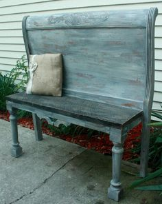 Primitive Headboard Bench II