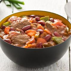 Page not found - Cook With Campbells Canada Beef Chili Recipe, Chili Recipes, Sirloin Steaks, Ratatouille, Main Meals, Stew, Main Dishes, Curry, Cooking Recipes