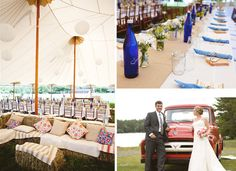 country wedding reception ideas with burlap and mason jars | Wedding Ideas: The Western Wedding