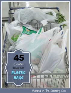 Plastic shopping ways are not just for groceries.  See 45 Creative Uses to recycle them. http://thegardeningcook.com/uses-for-plastic-grocery-store-bags/