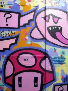 Boo & mushroom  grafite