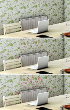 Shi Yuan's creative wallpaper incorporates thermochromic paint that changes color as the temperature rises