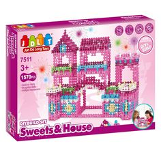 144.00$  Watch now  - 2016 JDLT Building Toys DIY Build Set For Girl 1570pcs Build House Bricks As For Gifts