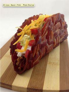 Woven Bacon Taco Shells