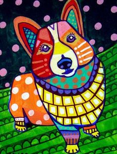Pembroke Welsh Corgi Art Dog Heather Galler by HeatherGallerArt, $16.00