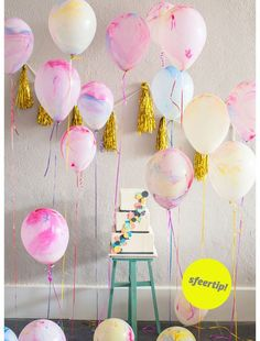 Marble balloons set 5 pc on Wanelo