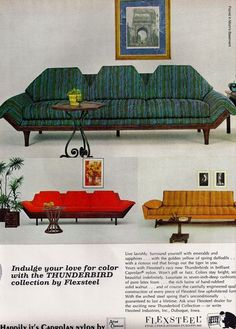 An ad for one of our all-time favorite furniture pieces, the mighty Thunderbird!