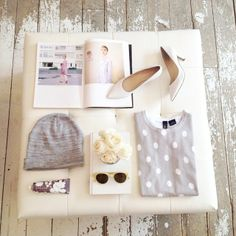 Dove grey dots! #online #grey #knit #accessories
