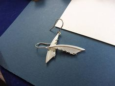 Dragonfly Wing Earrings of Sterling Silver  Tween