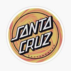 Santa Cruz Stickers, Santa Cruz Logo, One Piece Drawing, Skateboard Art, Sticker Design, Dream Life, Cricut, Fan, Iphone