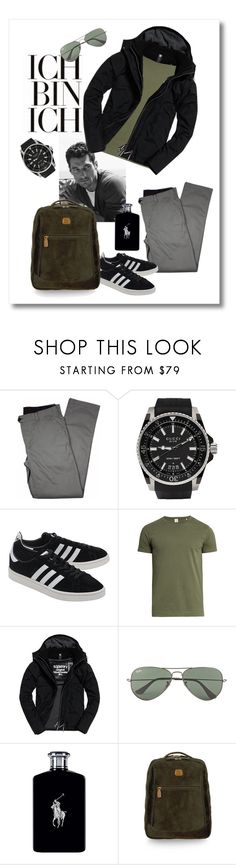 """""""sport casual"""" by ironiq ❤ liked on Polyvore featuring Lords of Harlech, Gucci, adidas Originals, Sørensen, Superdry, Ray-Ban, Ralph Lauren, Bric's, men's fashion and menswear"""