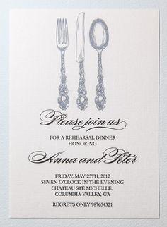 Printable rehearsal dinner invitation. $15.00, via Etsy.