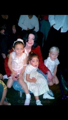 Michael with Prince and Paris <3