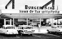 Old Burger King in Miami.  We were so excited to go here --- only place in town other than Royal Castle.