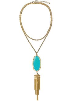 Kendra Scott necklace - have it in Tiger's Eye and LOVE IT
