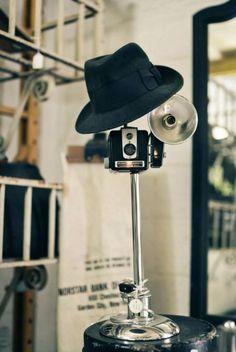 Vintage camera lamps