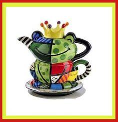 Romero Britto Teapot -- frog prince