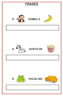 Atividades para o ensino infantil: Frases com enigmas Classroom Activities, Activities For Kids, Behavior Analyst, Learn Portuguese, Teaching Spanish, Speech Therapy, Professor, Coloring Books, Homeschool