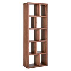 Hopkins Walnut Veneer 70cm Narrow Bookcase