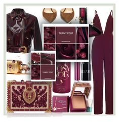 """Tawny Port Color"" by ayuschkova ❤ liked on Polyvore featuring Dolce&Gabbana, Jimmy Choo, Hoola, Lancôme and Calvin Klein"