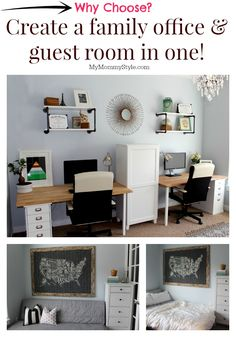 Discover how you can transform an office into a family office and guest room in one optimizing your home and office space!