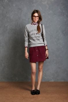 I love the jumper not sure about the skirt