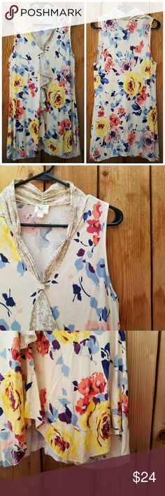 Anthropologie Weston Wear Floral Top Excellent condition  Feel free to ask me any additional questions! No trades, or modeling. Reasonable offers are considered. Bundles 3+ are 15% off!! Happy Poshing Anthropologie Tops