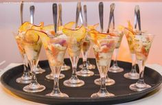Ceviche summer style de peixe branco com tomatinhos grape marinados no siciliano com crispy de batata doce  - Captains Buffet