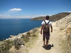 Isla del Sol is too beautiful for words. Walking from the North of the island to the South after a night spent under the clearest night sky. Lake Titicaca, Bolivia   threeeyesopen.co.uk   #bolivia #southamerica #laketiticaca #walking
