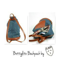 Bottiglito backpack by el Mato!! Handmade in Italy backpacks!