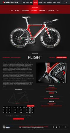 Colnago concept layout