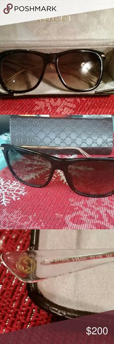 Gucci beautiful sunglasses This are stunning light weight.in new conditions .Very comfortable. Size 55 16 140 Brand: GucciType:?SunglassesModel:GG 3778-S Gender:FemaleMaterial:PlasticManufacturer: Gucci Gucci Sunglasses Gucci Case Gucci eyewear is commonly known for its craftsmanship and contemporary glamour. Its line is crafted wit sophistication and trend in mind. Gucci has been a popular choice in the fashion industry for several decades now. Gucci Accessories Glasses