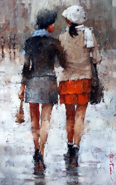 Andre Kohn, pintor figurativo impresionista, pintor impresionista rusa, el arte…