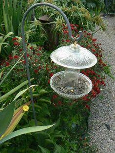 Glass Flowers bird feeder