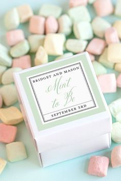 Mint to Be Wedding Favors | The Evermine Blog |  www.evermine.com