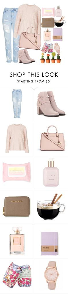 """""""Untitled #276"""" by ksenia1ksu on Polyvore featuring Topshop, Valentino, Michael Kors, Forever 21, Ted Baker, Luminarc, Chanel, Library of Flowers and Nine West"""
