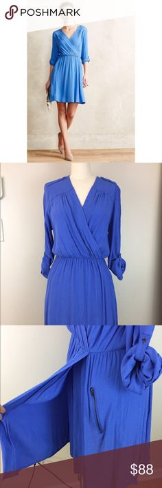 MAEVE Lene Faux Wrap Dress Adorable dress from Anthropologie. Gently Preowned with no flaws. Anthropologie Dresses