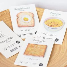 1 X cute Breakfirst Food memo pad paper sticky notes post it kawaii stationery papeleria school supplies material escolar Delicious Breakfast Recipes, Yummy Snacks, Snack Recipes, Yummy Food, Notes Autocollantes, Sticky Notes, Dumplings, Kawaii Stationery, Korean Stationery
