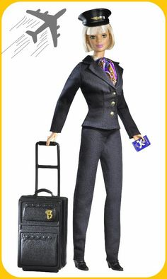 #barbie #barbiecollector  1999 Pilot Barbie  in a short-haired version