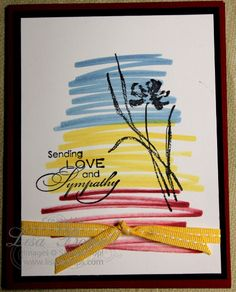 This is a VERY simple card using Stampin' Up! Markers, and the stamp set Love & Sympathy.  I will be posting a video soon showing a tutorial on making this card, so check back soon! (They will be posted to my Pinterest, YouTube and Blog!) Shared by Lisa Bowell-Stampin' Up! Demonstrator @ lisastamps.com