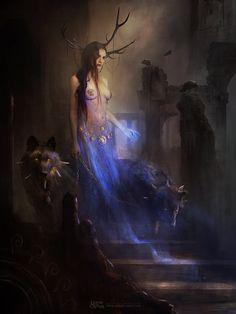 Artist Spotlight: Dark Fantasy Art by Bastien Lecouffe Deharme Dark Fantasy Art, Fantasy Kunst, Fantasy Women, Fantasy Artwork, Dark Art, Art Noir, Fantasy Creatures, Oeuvre D'art, Oeuvres