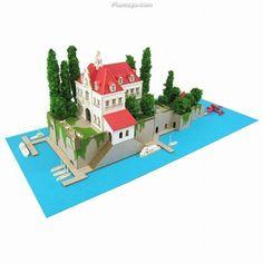 Studio Ghibli Series - Porco Rosso : Hotel Adriano (Paper Craft Kit)
