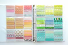 Washi tape reference binder - NoelMignon.com Layouts and Projects: My Scrapbook Space and Storage Ideas