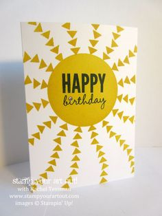 Sunshine card made with the Occasions Catalog's Celebrate Today stamp set… #stampyourartout #stampinup - Stampin' Up!® - Stamp Your Art Out! www.stampyourartout.com