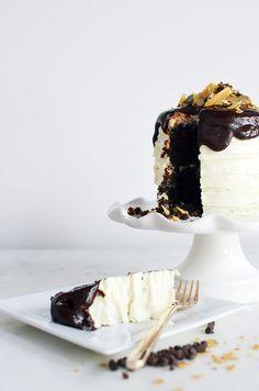 Dark Chocolate Ganache Cookie Cake | Waiting On Martha