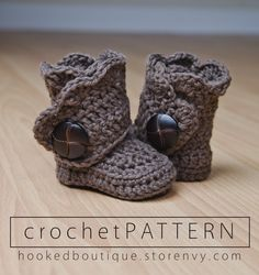 Crochet these modern booties for your special little ones! These are a fun and fast project.