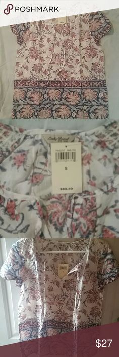 Lucky Brand shirt Floral Lucky brand top. Brand new with tags Lucky Brand Tops Blouses